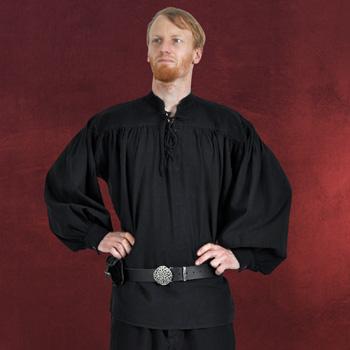 Adalbert - Mittelalter Hemd mit Frontschn�rung schwarz