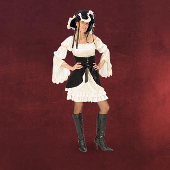 Piraten Lady Kost�mkleid