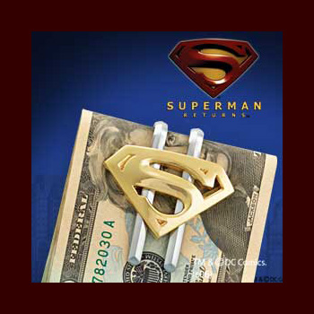 Superman Returns Geldklammer - Gold Symbol