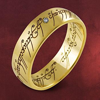 Herr der Ringe - Ring Gelbgold mit Diamant