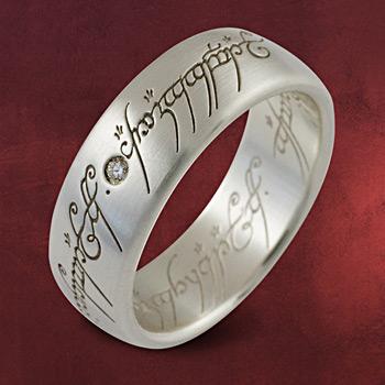 Herr der Ringe - Ring Silber mit Diamant