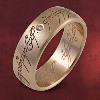 Herr der Ringe - Ring Rotgold mit Diamant