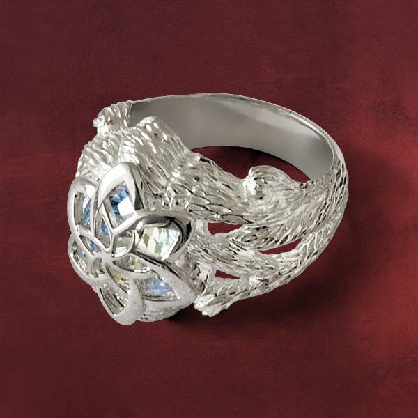 herr der ringe nenya galadriels ring silber 925 originalschmuck aus dem film ebay. Black Bedroom Furniture Sets. Home Design Ideas