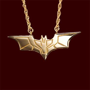 Batman The Dark Knight - Batarang Kette vergoldet