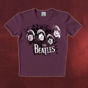 Beatles - Vintage Heads T-Shirt lila