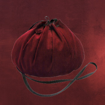 Mittelalter Tasche bordeaux