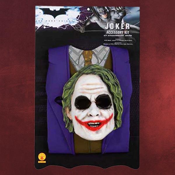 fasching kost m kinder batman joker set 2teilig ebay. Black Bedroom Furniture Sets. Home Design Ideas