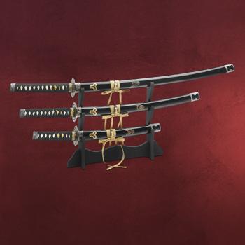 Kill Bill Hattori Hanzo Schwerter Set mit St�nder
