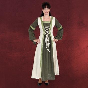 Saphiria Mittelalter Kleid olive-natur