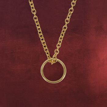 Der Eine Ring Replik mit goldener Schrift