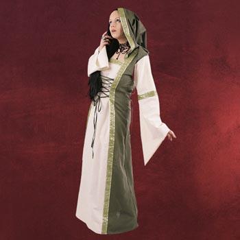 Saphiria Mittelalter Kleid natur-oliv