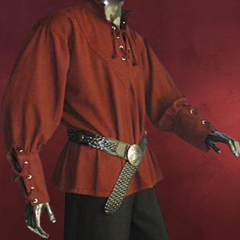Mittelalter Hemd weinrot