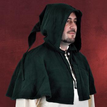 Mittelalterliche Gugel gr�n