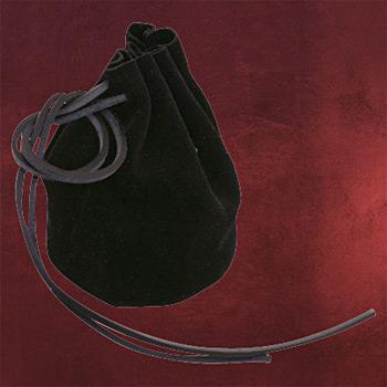Wildlederbeutel schwarz