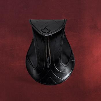 Ledertasche Ornamental schwarz
