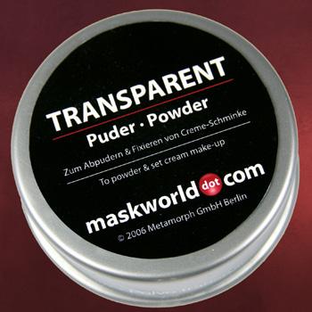 Transparent Puder Schminkdose