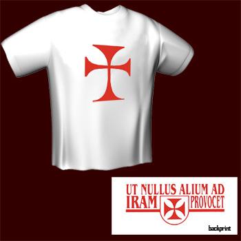 Tempelritter Kreuz - T-Shirt