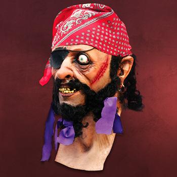 Pirat - Latexmaske