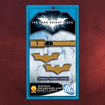 Batman The Dark Knight Rises - Taschenlampe & 2 Batarangs