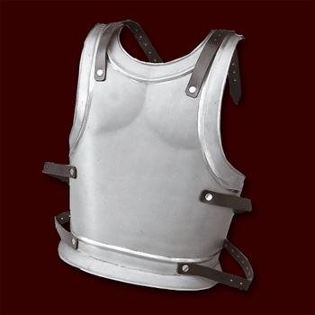 Rückenplatte Klassik blank mit Lederriemen