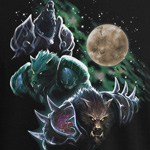 WoW Three Worgen Moon T-Shirt