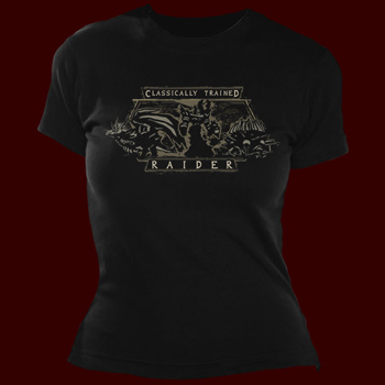 WoW Classically Trained Raider Girlie Shirt