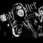 Collage Snape Girlie Shirt B&W