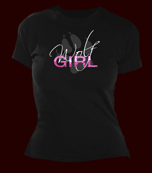 Wolf Girl Girlie Shirt
