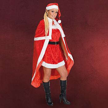 Weihnachtsmann - Kostüm Mantel für Damen