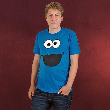 Sesamstra�e - Cookie Monster Faces T-Shirt
