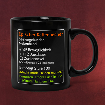 Epischer Kaffeebecher - MMO Item Fan Tasse
