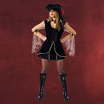 Sexy Piratin mit Hut