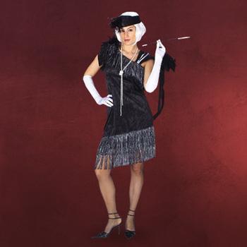Charleston Kleid mit Stirnband - Kostüm
