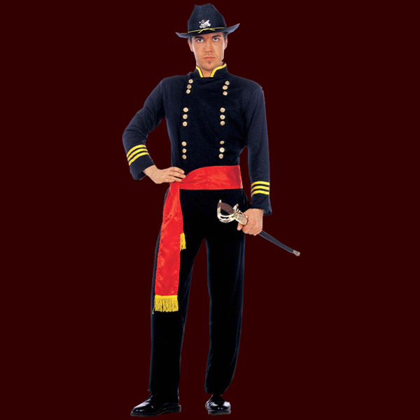 herren kost m nordstaatler uniform original 3tlg anzug sch rpe wilder westen ebay. Black Bedroom Furniture Sets. Home Design Ideas