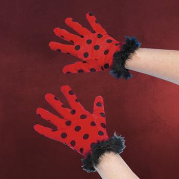 Handschuhe Marienkäfer - Kostümzubehör
