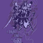 World of Warcraft I fight like a Girl Shirt