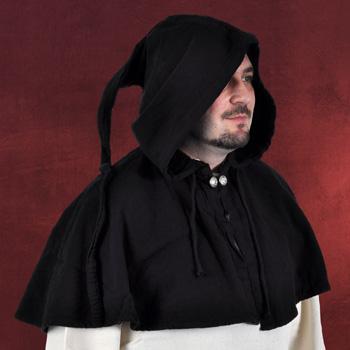 Mittelalterliche Gugel schwarz