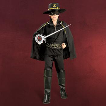 Zorro Hut, Augenmaske & Schwert für Kinder