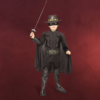Zorro - Kinderkostüm mit Muskeln
