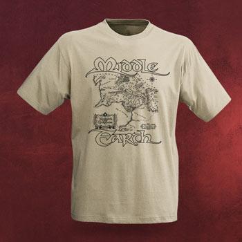 Mittelerdekarte T-Shirt