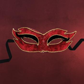Venezianische Maske - Colombina velluto mezzo