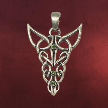Keltischer Drache - Anhänger mit Kette