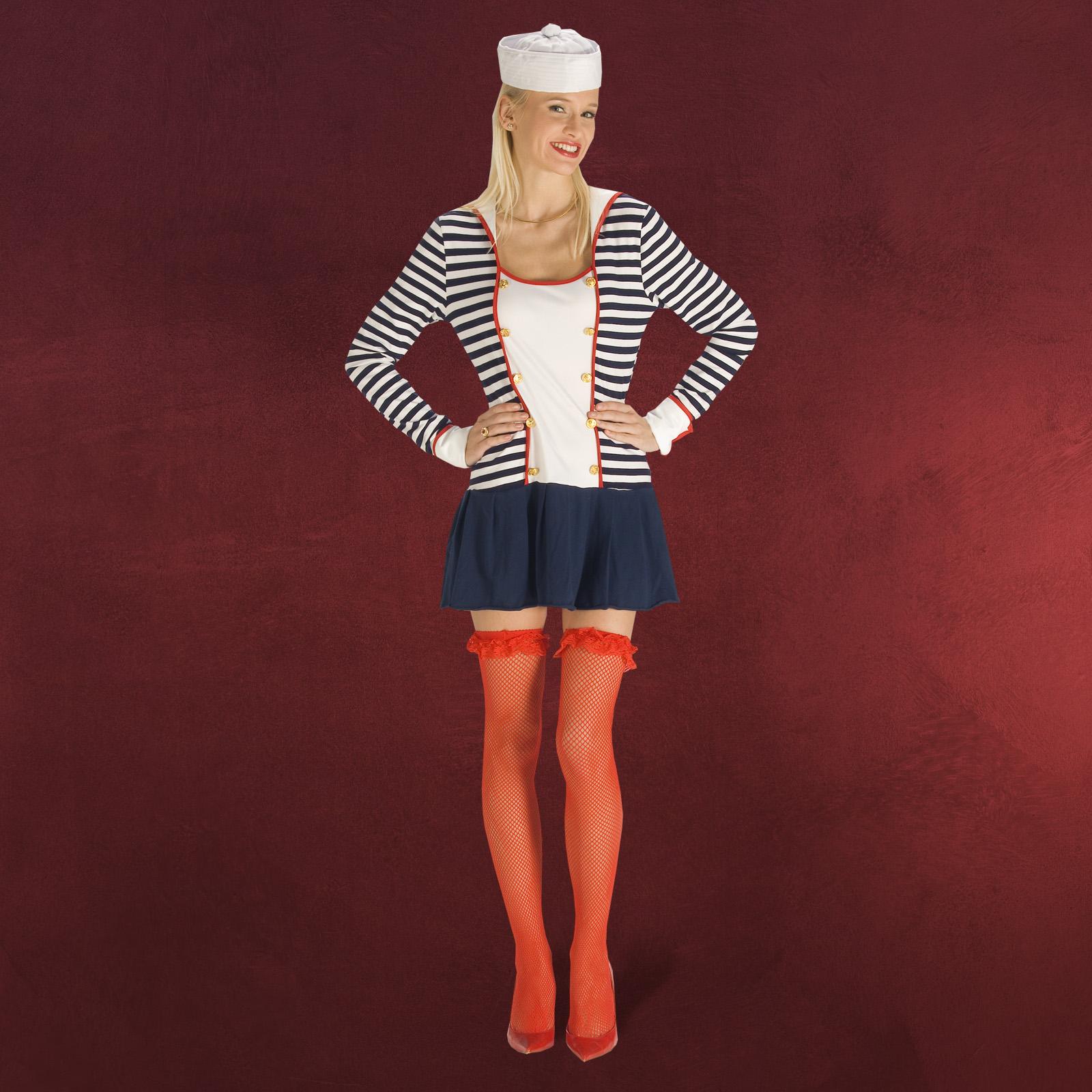 Sexy Marine Sailor Girl Kleid Matrosen Fasching Kost 252 M