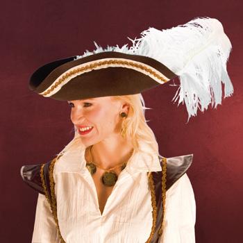 Piratenhut braun - Kost�mzubeh�r