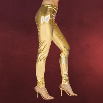 Leggings gold - Kost�mzubeh�r
