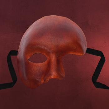 Venezianische Maske - Phantom braun