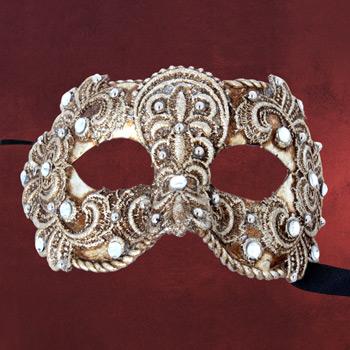 Venezianische Maske - Colombina macrame