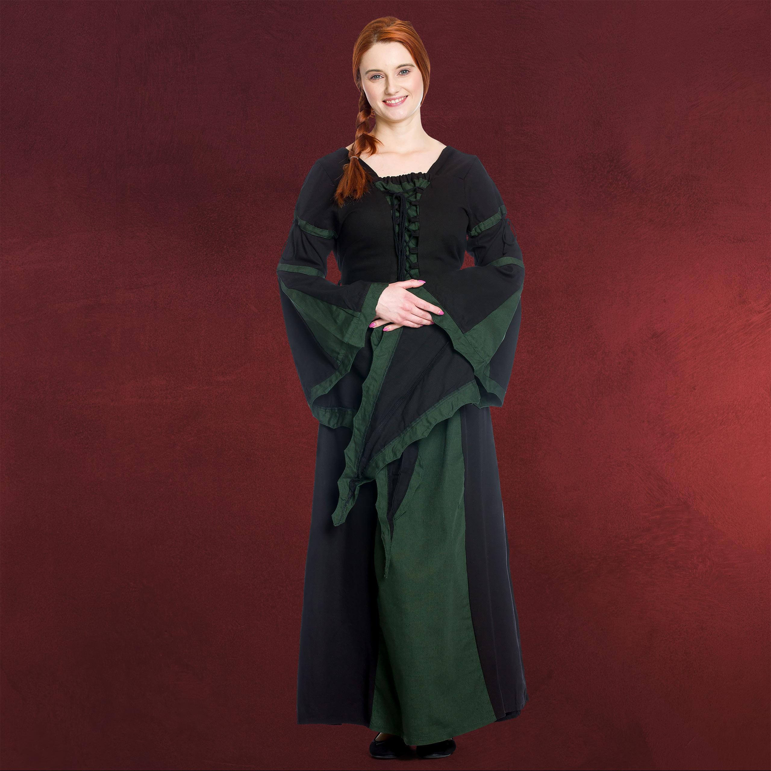 Details zu mittelalter gewand kleid dunkelgrün sch warz edel