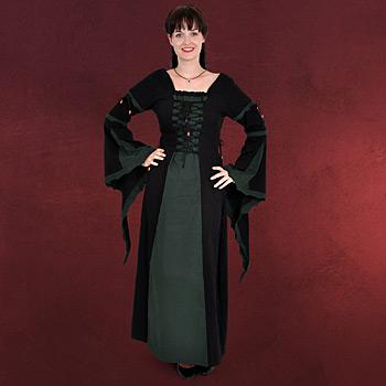 Leona - Mittelalterkleid schwarz-gr�n