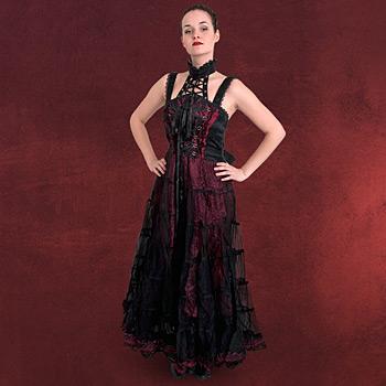 Gothic Kleid mit Schnürung